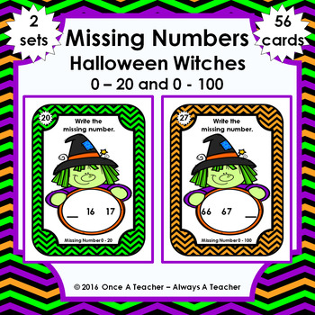 Missing Numbers  •  Halloween Witch