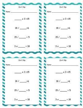 Missing Numbers: Multiplication