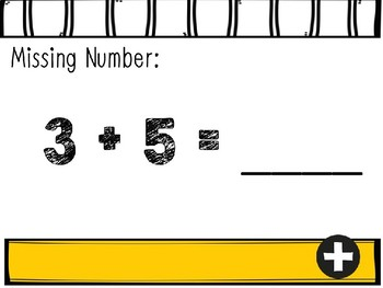 Missing Numbers Interactive Power Points: Addition 0-10