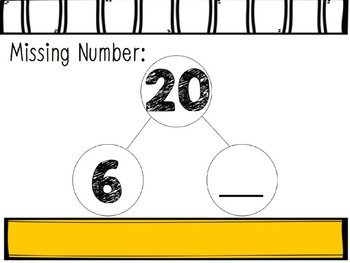 Missing Numbers Interactive Power Points: Number Bonds 10-20