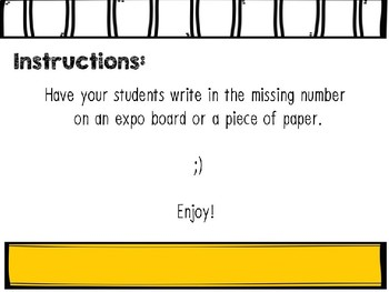 Missing Numbers Interactive Power Points: Subtraction 0-10
