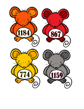 Missing Numbers to 1200 - Mice