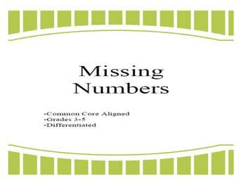 Missing Numbers (Multiplication)