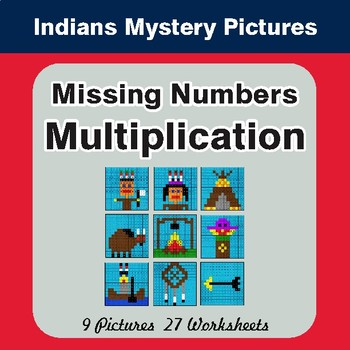 Missing Numbers Multiplication - Color-By-Number Mystery Pictures