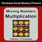 Missing Numbers Multiplication - Color-By-Number Christmas Math Mystery Pictures