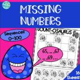 Missing Numbers - Number Sequence 0-100 Worksheet Pack