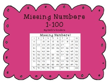 Missing Numbers Packet