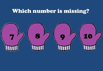 Missing Numbers Power Point (Winter Theme)