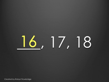 Missing Numbers PowerPoint (Practice for AIMSweb)