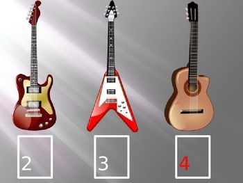 Missing Numbers Powerpoint (Guitar Theme)