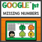 Missing Numbers Practice for Google Classroom™ for Distanc