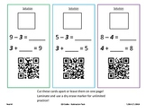 Missing Numbers QR Code Subtraction Pack