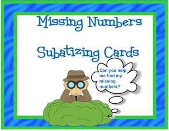 Missing Numbers SUBATIZING CARD Set
