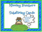Missing Numbers SUBATIZING CARD Set