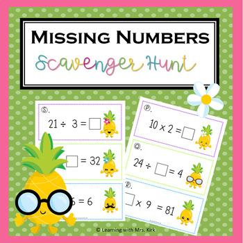 Missing Numbers Scavenger Hunt