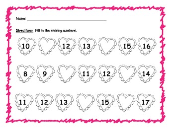 Missing Numbers (Sequencing Numbers 1-30)