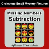 Missing Numbers Subtraction - Color-By-Number Christmas Math Mystery Pictures