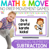 Missing Numbers Subtraction Movement Math Game for Google