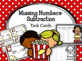 Missing Numbers: Subtraction. Task Cards