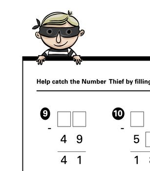 Missing Numbers Subtraction Worksheet