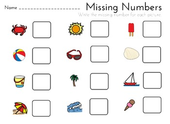 Missing Numbers: Summer Theme