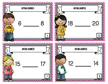 Missing Numbers {Task Cards}