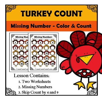 Missing Numbers - Thanksgiving
