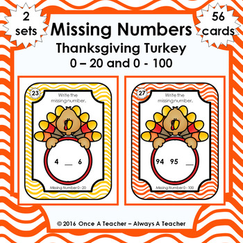 Missing Numbers  •  Thanksgiving Turkey
