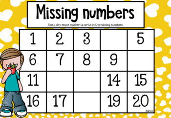 Missing Numbers - Up to 120