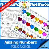 Missing Numbers - Valentine's Edition Task Cards