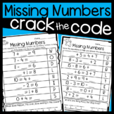 Missing Numbers Worksheets: Addition and Subtraction within 20