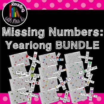 Missing Numbers YEARLONG +/- BUNDLE!