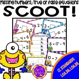 Missing Numbers   True and False Equations   First Grade Math Games Scoot