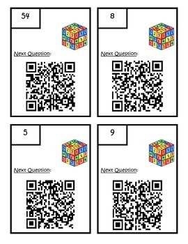 Missing Numbers in Equations QR Scavenger Hunt 3.OA.4 Third Grade Math