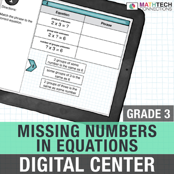 Missing Numbers in Multiplication & Division - 3rd Digital Math Center