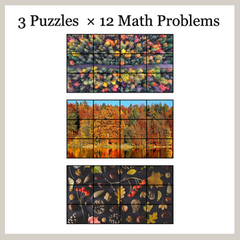Missing Numbers in Multiplication - Google Slides - Autumn Puzzles