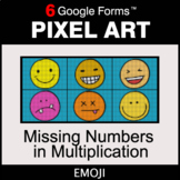 Missing Numbers in Multiplication - Pixel Art Math | Google Forms