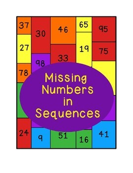 Missing Numbers in Sequences Coloring Math Center Addition Subtraction