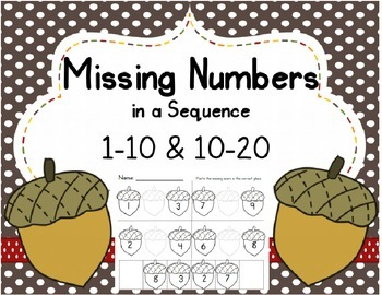 Missing Numbers in a Sequence (1-10 and 10-20); {Fall} ; C