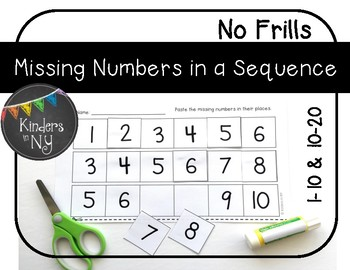 Missing Numbers in a Sequence (1-10 and 10-20); No Frills