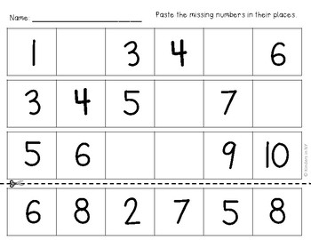 Missing Numbers in a Sequence (1-10 and 10-20); No Frills ...