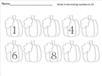 Missing Numbers in the Pumpkin Patch