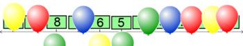 Missing Numbers on Number Line 0-20 BNWS
