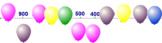 Missing Numbers on Number Line 100-1000 BNWS