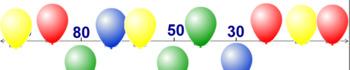 Missing Numbers on Number Line 20-100 BNWS