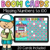 Missing Numbers to 100 - Digital Task Cards - Boom Cards