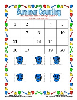 Summer Missing Numbers to 20!
