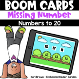 Missing Numbers to 20 -  Boom Cards