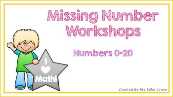 Missing Numbers to 20 Workshops