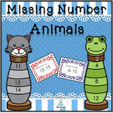 Missing Numbers to 200 - Missing Number Animals